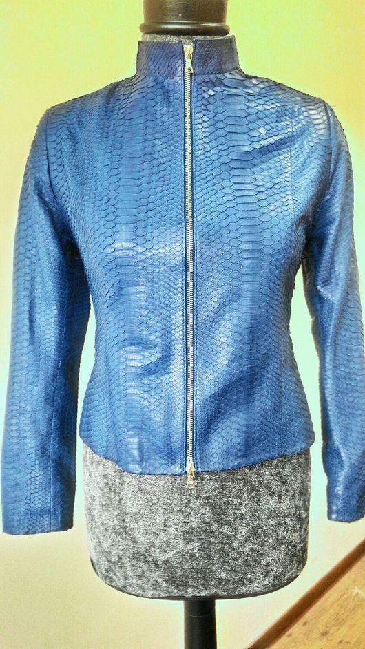 Верхняя одежда ручной работы. Ярмарка Мастеров - ручная работа. Купить куртка из питона под заказ.. Handmade. Куртка женская