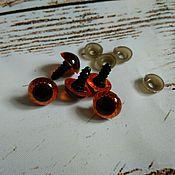 Материалы для творчества handmade. Livemaster - original item Eyes for Teddy brown 14 mm screw. Handmade.