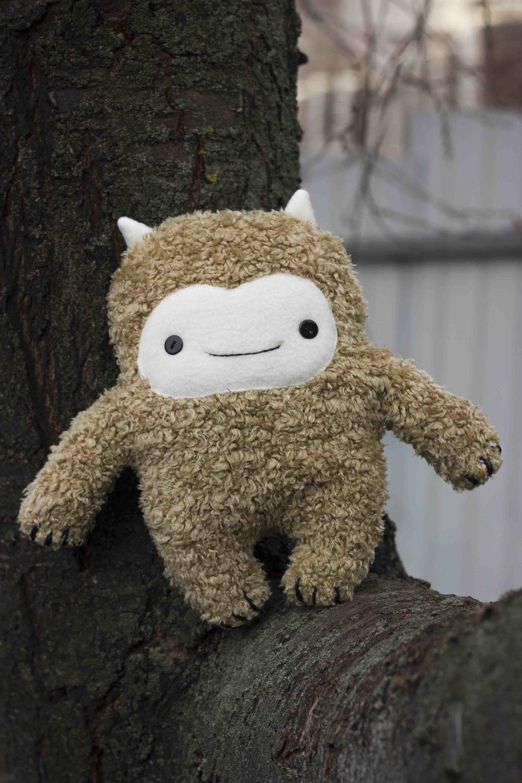Снежный человек Йети, игрушка плюшевая, зверушка, Вальдорфские куклы и звери, Липецк,  Фото №1