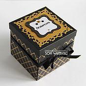 Упаковочная коробка ручной работы. Ярмарка Мастеров - ручная работа Мэморибокс - коробочка с фотографиями. Handmade.