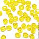 Для украшений ручной работы. Ярмарка Мастеров - ручная работа. Купить 50шт 4мм Чешские граненые бусины желтые Fire polished beads. Handmade.