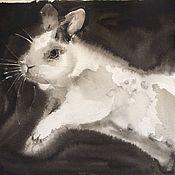 Картины и панно ручной работы. Ярмарка Мастеров - ручная работа Кролик. Handmade.