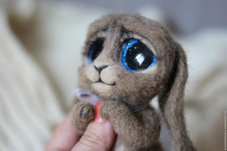 Copyright felted toy Bunny 'Taffy', Felted Toy, Kuragino,  Фото №1