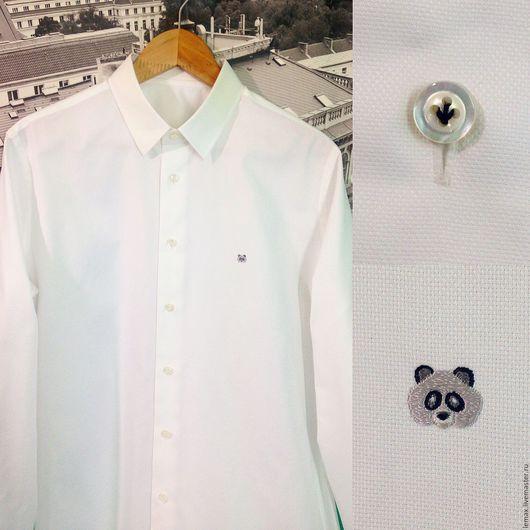 Для мужчин, ручной работы. Ярмарка Мастеров - ручная работа. Купить Рубашка на заказ. Handmade. Белый, рубашка на заказ, портной