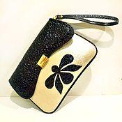 """Сумки и аксессуары ручной работы. Ярмарка Мастеров - ручная работа """"Черный алмаз"""" кожаный клатч. Handmade."""