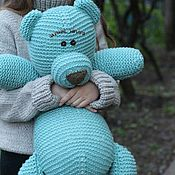 Куклы и игрушки ручной работы. Ярмарка Мастеров - ручная работа Вязаный Мишка. Handmade.
