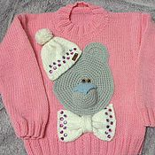 Работы для детей, ручной работы. Ярмарка Мастеров - ручная работа свитер с мишкой. Handmade.