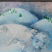 """Картины и панно ручной работы. Ярмарка Мастеров - ручная работа Картина маслом """"Моя мягкая и пушистая Зима..."""". Handmade."""