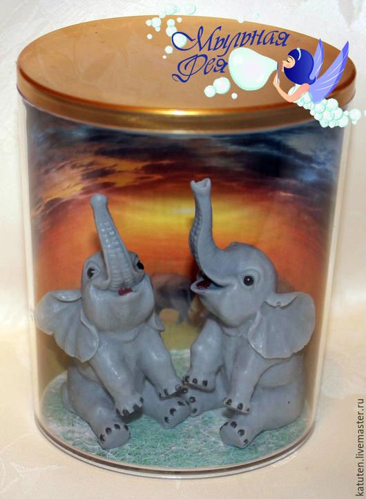 Мыло ручной работы. Ярмарка Мастеров - ручная работа. Купить Набор Слоны на удачу. Handmade. Серый, подарок на любой случай