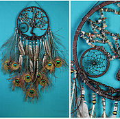 Фен-шуй и эзотерика ручной работы. Ярмарка Мастеров - ручная работа Dream Catcher Tree of life jasper peacock Dreamcatcher. Handmade.
