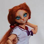 Куклы и игрушки ручной работы. Ярмарка Мастеров - ручная работа Шарнирная кошка Лора. Handmade.
