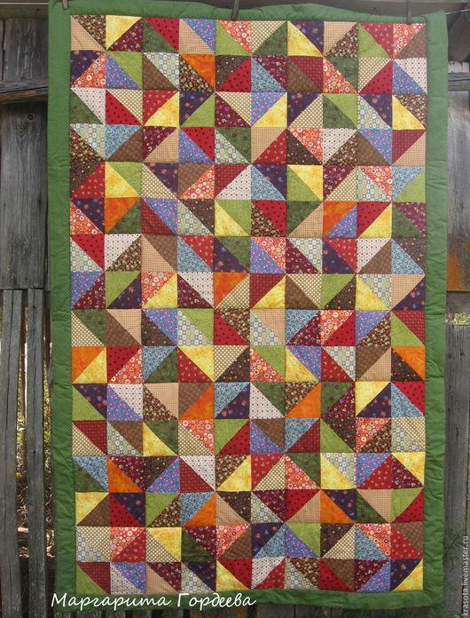 Текстиль, ковры ручной работы. Ярмарка Мастеров - ручная работа. Купить Русское лоскутное одеяло. Handmade. Лоскутное покрывало
