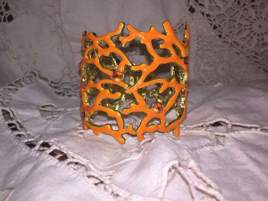 Винтажные украшения. Ярмарка Мастеров - ручная работа. Купить БРАСЛЕТ ОРАНЖЕВЫЙ КОРАЛЛ ВИНТАЖ. Handmade. Оранжевый, винтажный