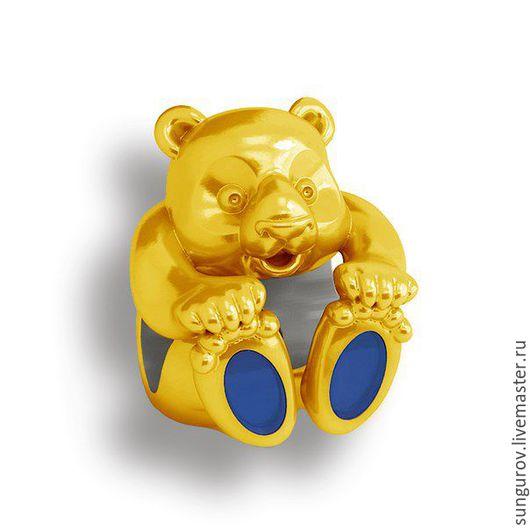 Шарм на браслет `Teddy GOLD` (Арт.125002)