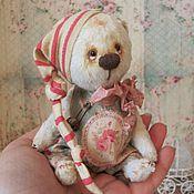 Куклы и игрушки ручной работы. Ярмарка Мастеров - ручная работа Мишка-ангел Ладошкин мятный 15 см. Handmade.