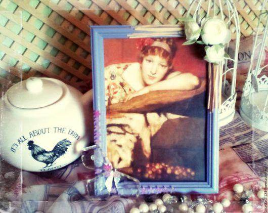 Фоторамки ручной работы. Ярмарка Мастеров - ручная работа. Купить Рамка для фото со стеклом ,,Фиолетовая нежность,,. Handmade.