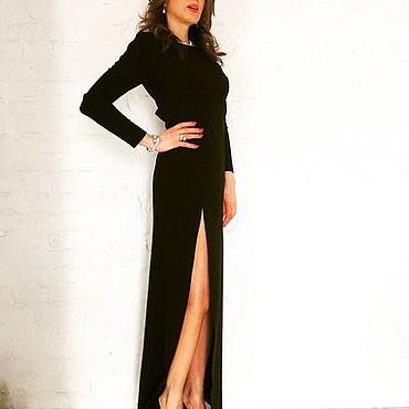 Одежда ручной работы. Ярмарка Мастеров - ручная работа Платье черное,вечернее. Handmade.