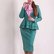 Одежда handmade. Livemaster - original item Emerald suit cotton