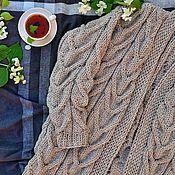 Одежда handmade. Livemaster - original item cardigans: Women`s knitted cardigan oversize color beige. Handmade.