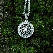 Украшения handmade. Livemaster - original item Pendant/Amulet Black Sun of silver 925. Handmade.