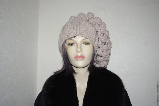 Шапки ручной работы. Ярмарка Мастеров - ручная работа. Купить Объемная вязаная шапка от Irina Grabar. Handmade. Белый, handmade