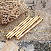 Материалы для творчества handmade. Livemaster - original item Pendant wand 30x2 mm gold plated (3295). Handmade.