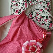 """Комплекты одежды ручной работы. Ярмарка Мастеров - ручная работа Комплект для малыша """"Розочки"""". Handmade."""