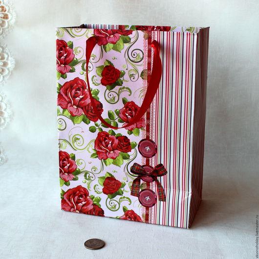 Упаковка ручной работы. Ярмарка Мастеров - ручная работа. Купить Пакет Розы. Handmade. Для сувениров, подарочный пакет