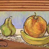 """Картины и панно ручной работы. Ярмарка Мастеров - ручная работа масло """" Символы счастья"""". Handmade."""