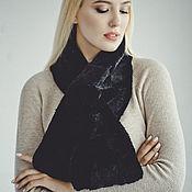 Аксессуары handmade. Livemaster - original item Beaver fur scarf in black. Handmade.