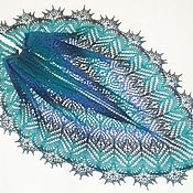 Шали ручной работы. Ярмарка Мастеров - ручная работа Шаль ажурная из Кауни Аква. Handmade.