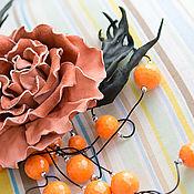 Украшения ручной работы. Ярмарка Мастеров - ручная работа Персиковое счастье. Handmade.
