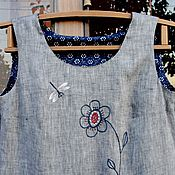 Одежда handmade. Livemaster - original item Summer dress linen Dragonfly. Handmade.