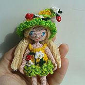 Мягкие игрушки ручной работы. Ярмарка Мастеров - ручная работа Кукла Крошка на ладошке. Handmade.