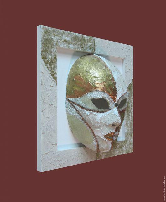 """Интерьерные  маски ручной работы. Ярмарка Мастеров - ручная работа. Купить """"МАСКА"""" Панно (PAINTING). Handmade. Комбинированный, акриловые краски"""