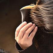 """Сувениры и подарки ручной работы. Ярмарка Мастеров - ручная работа Гребешок дубовый """"Морской конек"""" с заболонью. Handmade."""