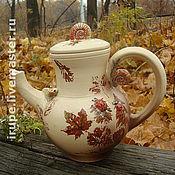 """Посуда ручной работы. Ярмарка Мастеров - ручная работа чайник """"Улитка и Слизень на прогулке"""". Handmade."""