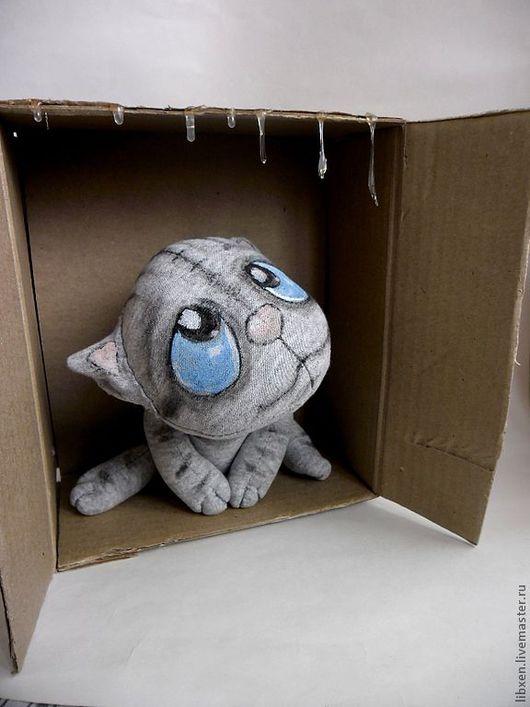 """Игрушки животные, ручной работы. Ярмарка Мастеров - ручная работа. Купить кот """" Первый дождь"""". Handmade. Кот, дождь"""