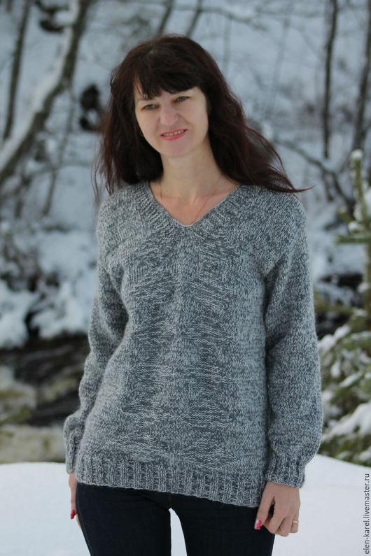 Кофты и свитера ручной работы. Ярмарка Мастеров - ручная работа. Купить Серый Туман Свитер теплый. Handmade. Серый