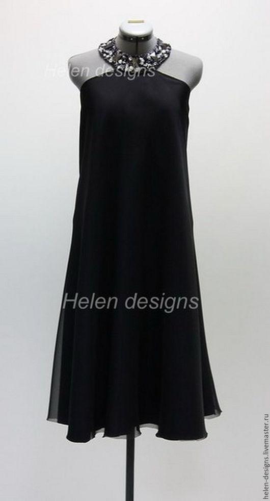 Платья ручной работы. Ярмарка Мастеров - ручная работа. Купить Вечернее платье с открытой спиной. Handmade. Однотонный, вечернее платье