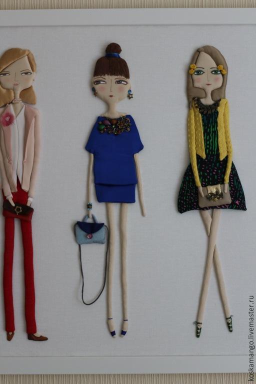 Люди, ручной работы. Ярмарка Мастеров - ручная работа. Купить Модницы. Handmade. Разноцветный, модели, женщины