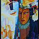 Люди, ручной работы. Ярмарка Мастеров - ручная работа. Купить Живопись ..Вспышка цивилизации.. холст .акрил. Handmade. Разноцветный, акрил