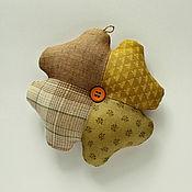 Для дома и интерьера handmade. Livemaster - original item Clover - a symbol of luck. Amulet made of fabric. Handmade.