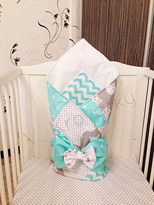 Для новорожденных, ручной работы. Ярмарка Мастеров - ручная работа. Купить Одеяло-конверт на выписку. Handmade. Комбинированный, одеяло на выписку