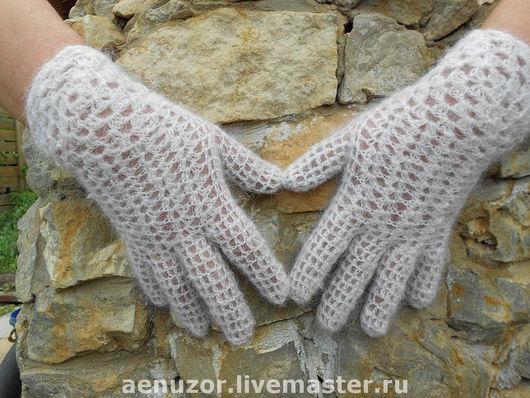 Варежки, митенки, перчатки ручной работы. Ярмарка Мастеров - ручная работа. Купить ажурные перчатки. Handmade. Женские перчатки, эксклюзив