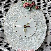 Для дома и интерьера ручной работы. Ярмарка Мастеров - ручная работа Часы Имитация фарфора. Handmade.