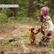 Куклы и игрушки ручной работы. Ярмарка Мастеров - ручная работа куколка Strobari & мишка Betkhoven. Handmade.