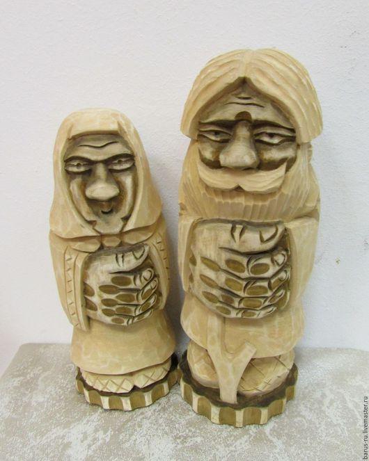 Статуэтки ручной работы. Ярмарка Мастеров - ручная работа. Купить Дед и баба резьба из липы. Handmade. Липа, сувениры и подарки