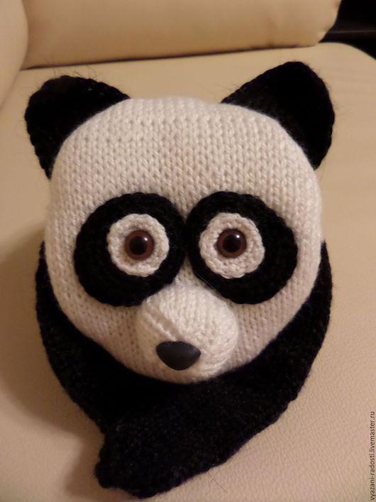 Шапки и шарфы ручной работы. Ярмарка Мастеров - ручная работа. Купить Панда-шарф. Handmade. Чёрно-белый, шарф для мальчика