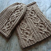 Материалы для творчества handmade. Livemaster - original item Scheme: Description knitting set Sand (hat, beanie and Snood). Handmade.